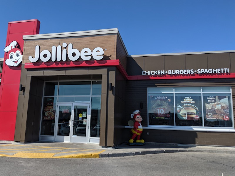 Outside Jollibee in Scarborough Canada