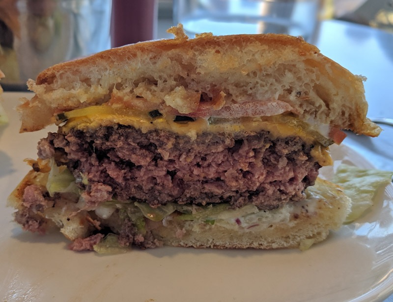 Cross section of burger at PORT