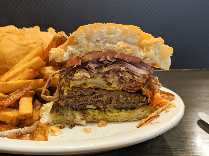 Cross section of the trooper burger