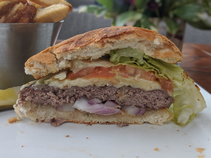 Cross section of the JW Signature Burger