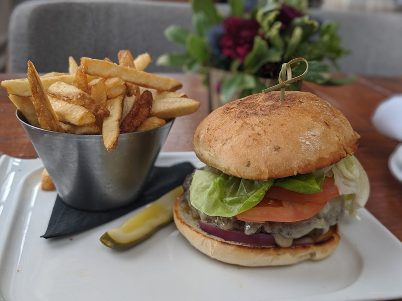 The Signature Burger when it arrived